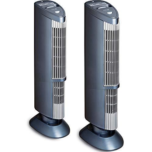 2x Purificateur d'air avec ioniseur UV plasma CA-401 - Remplacement du filtre superflu! - 5 techniques de purification - Purificateur d'air professionnel