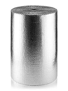 SuperFOIL MP 750mm SFBA Aislamiento de Burbujas (1 Rollo, 75 cm x 50 m) -37,5 m² | 3 mm Reflector de Calor de Doble Capa y Barrera Radiante para aislar Suelos, techos y Paredes, 0.75m x 50m (37.5sqm)
