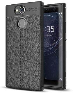 Sony Xperia XA2 Leather Skin Case Cover - Black.