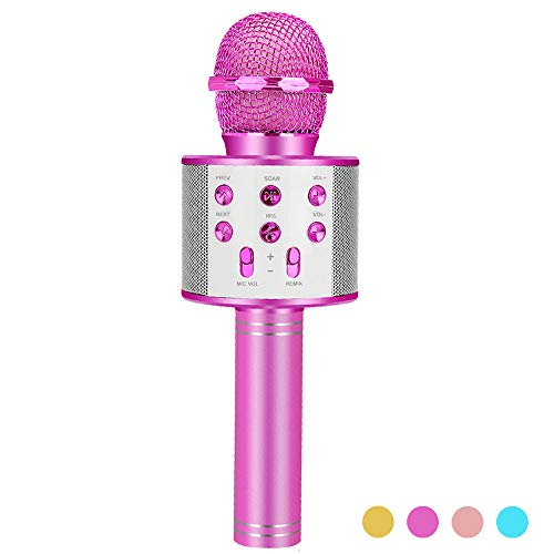 ZZLWAN Best Gifts for 7 8 9 10 Year Old Girls Toys, Wireless Karaoke Microphone Machine for Kids,Most Popular Toys for 4 5 6 Yr Old Girl 2020,Hot Birthday Presents for Boys Age 11 12 Teens