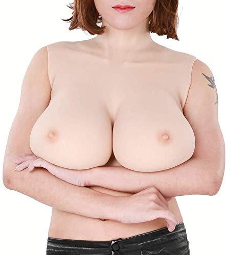 GKPLY Forme mammarie in Silicone, Coppa H Tette finte Seni Finti, Protesi indossabile Mastectomia potenziatore Busto per Crossdresser Cosplay e Mastectomia