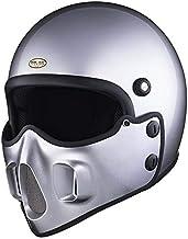 マッドマッスクJ06 マスク付 ジェットヘルメット シルバーメタリック マッドマックス ビンテージ ヘルメット フルフェイス SG/PSC Mad Max HiGH&LOW ハイアンドロー