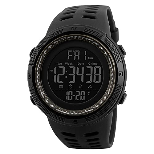 Qingsm Cronógrafo digital deportes al aire libre estudiante impermeable luminoso reloj deportivo