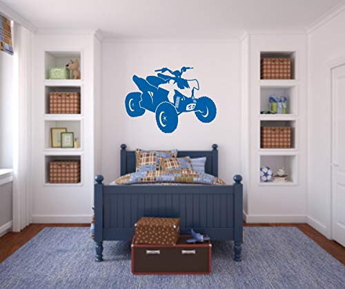 Promini ATV muur Decal 4 Wheeler Decal Jongens Kamer Muursticker ATV Decal Quad Muursticker ATV Decal Honda Decal Kawasaki Decal Wall Art Muursticker 14