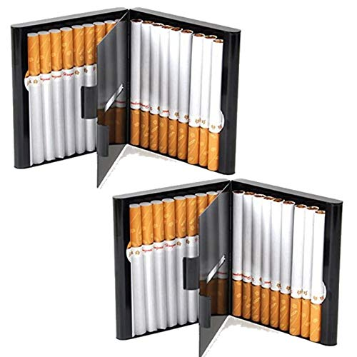 Zigarettenetui Lagerung für 20 Zigaretten Halter Zigarettenschachtel zigarettenhülle zigarettendose Double Sided Flip Open Pocket-Zigarettenetui Storage Container Geschenke (2 Stuck)