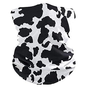 CFAUIRY Face Mask Bandanas Cow Print Balaclavas Head Face Scarf Headband Headwear Neck Gaiter Protection Anti-Dust Sun UV for Women Men