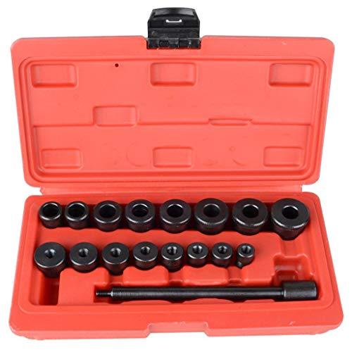 Autoreparatur 17-teiliges Set Universal Kupplung Ausrichten werkzeug 17-teiliges Kupplungsausrichtungswerkzeug für alle Fahrzeuge Rostfreier Stahl (black, 1PC Werkzeugkoffer)