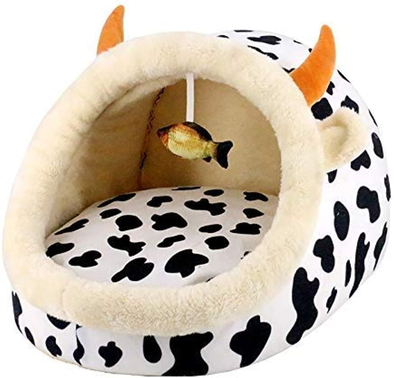 QTDS Pet nest  Kennel pad Teddy golden Hair Large and Medium Dog pet nest Winter Dog Bed nest cat Litter Supplies Four Seasons Supplies Kennel pet Bed (color   Multicolord)