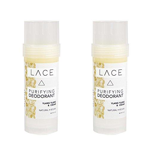 Ylang Ylang & Cedar Natural Deodorant by LACE (2 Pack)