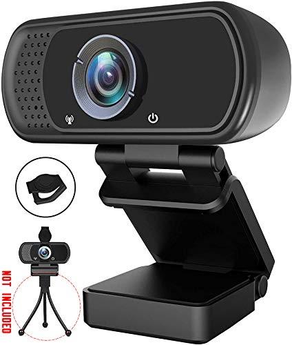1080P Webcam with Microphone & Privacy Cover Web Cam USB Camera Computer HD Pro Streaming Web Camerm for PC Desktop & Laptop Autofocus BestWebcam with Rotatable Clip