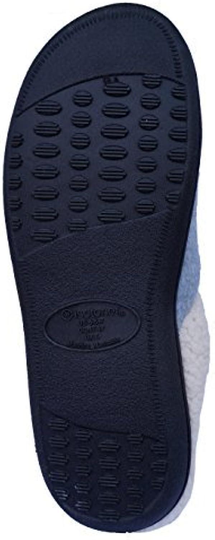 Isotoner Women's Kiley Knit Hoodback Clog, Purp 6.5-7