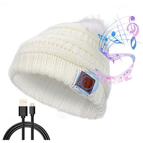 CestMall V5.0 Bluetooth Beanie Hut, Fashion Strick Beanie Bluetooth Hut Winter Warme Musik Hut Kopfhörer Drahtloses Headset zum Laufen Skifahren Wandern Wintersport Übung Geburtstag