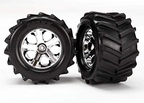 Traxxas Maxx Tires, 2.8 All-Star Chrome Wheels: ST 4×4