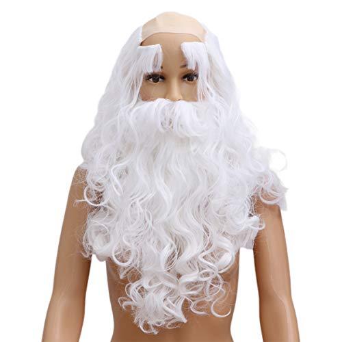 Amosfun Conjunto de peruca de barba de Papai Noel, <b><a href=