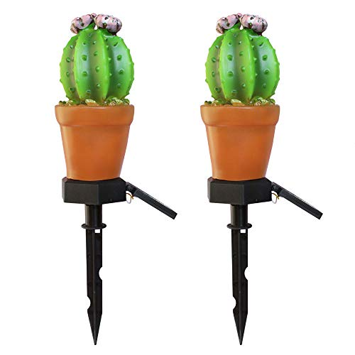 INFILM 2 Pack Garden Solar Lights,Pineapple Cactus Solar Warm Light Garden Stake Light Ground Lawn Lamp for Patio Home Pathway Deck Yard Outdoor Path Decor