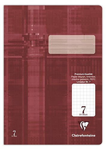 Clairefontaine 331007C Heft A4, Premium kariert, Folie kaschiert, 90 g, 7 x 7 mm, 1-er Pack, 16 Blatt