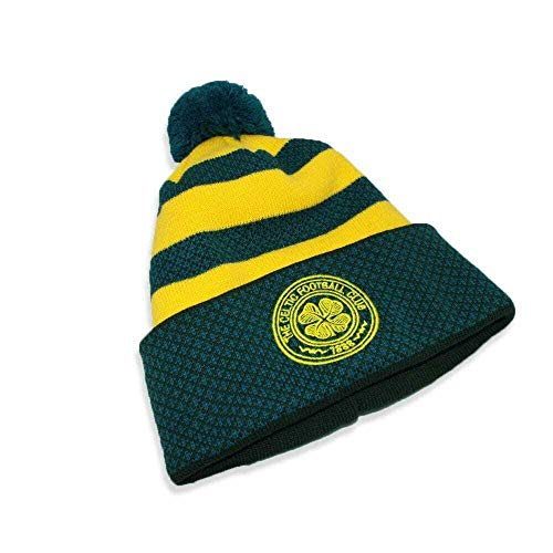 Official Glasgow Celtic FC Away Style Green and Gold Hoop Bronx hat