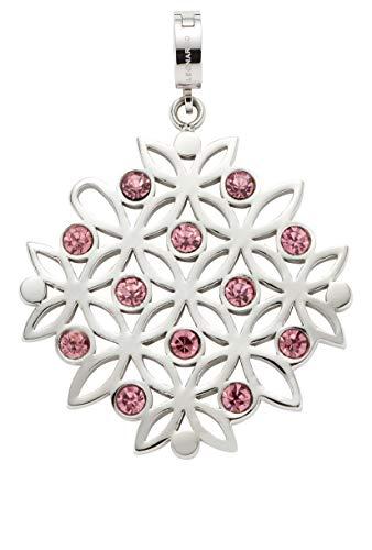 Jewels by Leonardo DARLIN'S Damen-Anhänger Fanni mit Mini-Clip, Edelstahl mit Kristall-Steinchen, Clip & Mix System, Größe (B/H/T): 34/47/8 mm, 016852