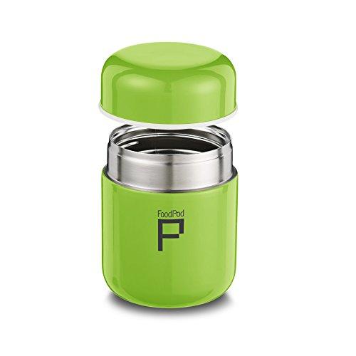 Pioneer FoodPod Thermo-Speisebehälter 280 ml Edelstahl Doppelwandig Isolierbecher für Lebensmittel 6 Stunden Heiß 24 Stunden Kühl Auslaufsicher BPA-Frei – Grün