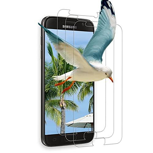 [3 pezzi] Vetro temperato per Samsung Galaxy S7, [2.5D] Vetro temperato, 9H durezza, anti-bolle, HD Clear, anti-impronte, pellicola protettiva in vetro temperato per Samsung S7 - (trasparente)