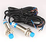 Gebildet 4 mm Sensor de Proximidad Inductivo Distancia de Detección Sensor de Aproximación Cilindro Interruptor de Proximidad NPN NC (Normalmente Cerrado) CC 6-36 V 300 mA 3 Cables (Diámetro 12 mm)