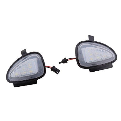 B Blesiya 1 Par de Luces LED de Charco de Espejo Lateral de Alta Calidad para GTi Golf MK6