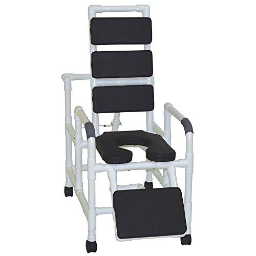 MJM INTERNATIONAL 193-SSDE-TP-BLK Reclining Shower Chair, Shape, ()