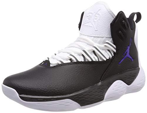 Nike Herren Jordan SUPER.Fly MVP Basketballschuhe, Mehrfarbig (Black/Dark Concord/White 051), 41 EU