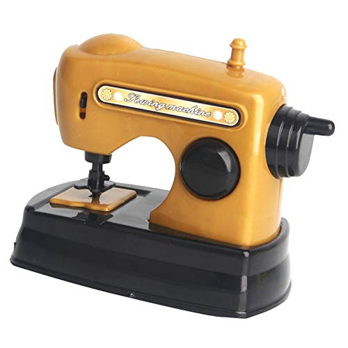 lahomia Electric Sewing Machine Pretend Play House Applicance Playset Toy for Kids Age 3+