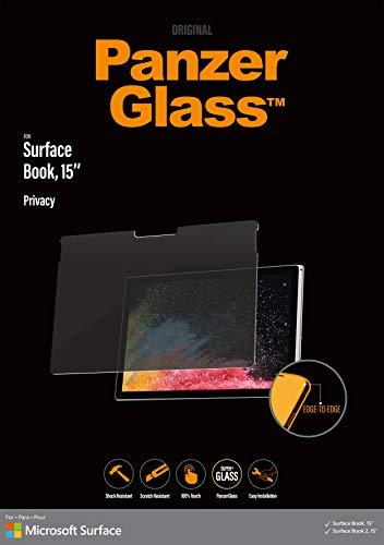 PanzerGlass Privacy Schutzglas für Microsoft Surface Book und Book 2 mit 15 Zoll, Transparent, P6254