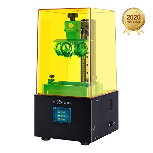 """ANYCUBIC Photon Zero 3D Printer, LCD Resin 3D Printer Assembled with 16X Anti-aliasing Function and UV Cooling System & Upgraded UV Module, Build Size 3.81""""x2.12""""x5.9"""", Black"""