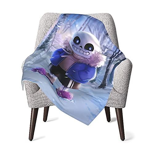Manta de bebé Undertale, manta ultra suave de forro polar cálido mullido manta cómoda para niños y niñas 75 x 100 cm.