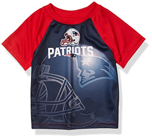 NFL New England Patriots Boys Short Sleeve T-Shirt, Multi-Color, 18M