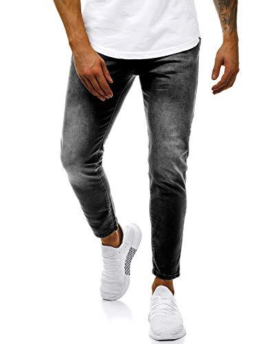 OZONEE heren jeans broek herenjeans jeans spijkerbroek skinny rodejeans biker stretch regular slim fit rechte sportjeans cargobroek cargo destroyed look wash pants B/7158