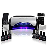 Kit Semipermanente Unghie Professionale • 6 Smalti Primer Base Top Coat Fornetto Led Nai...
