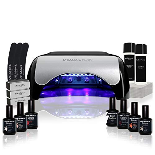 Kit manucure vernis semi permanent ✦ 6 Vernis à ongles & Lampe UV / LED 48W Unic -...