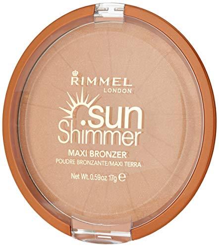 Rimmel London Maxi Terra Abbronzante SunShimmer, Bronzer con Finish Satinato, 004 Sun Star, 17 g