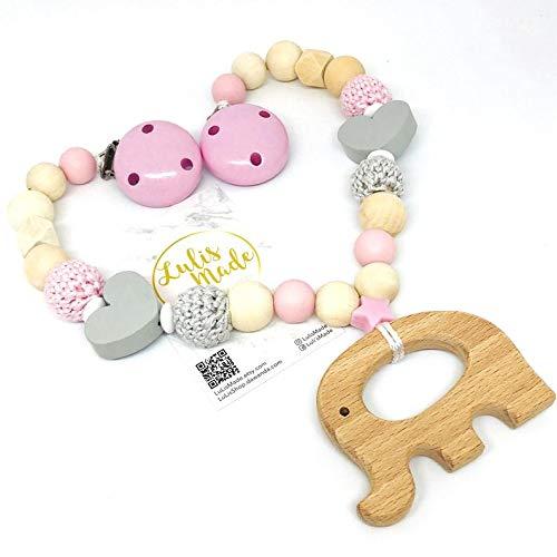 Cadena para cochecito de bebé hecha a mano como regalo individual (F08231)
