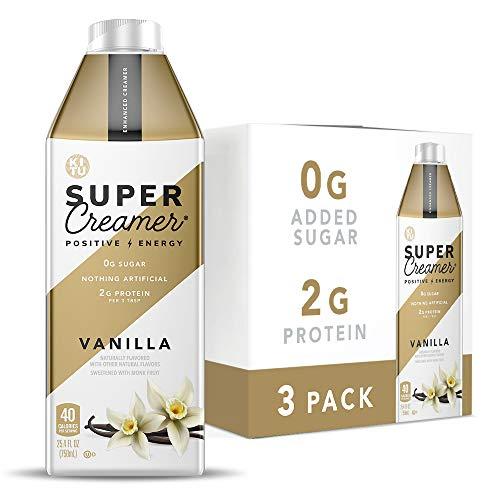 Kitu Super Coffee Keto Coffee Creamer | 0g Added Sugar, 2g Protein, 40 Calories [Vanilla] 25.4 Fl Oz, 3 Pack
