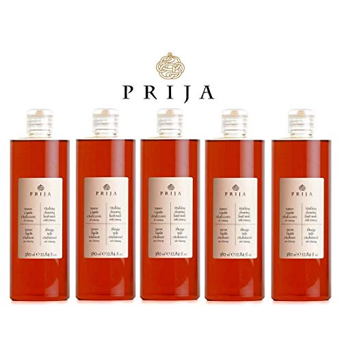 Prija Flüssigseife 5x 380ml mit Ginseng Seife