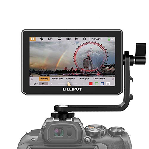 Lilliput T5 5 Inch Touch Screen IPS Full HD 1920x1200 4K HDMI 60Hz On-Camera Video Field Monitor for BMPCC DSLR Camera (T5 5 Inch HDMI)