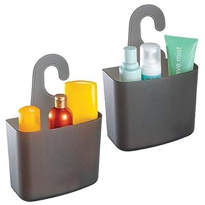 mDesign Plastic Shower Hanging Caddy Organizer Storage Basket, 2 Pack