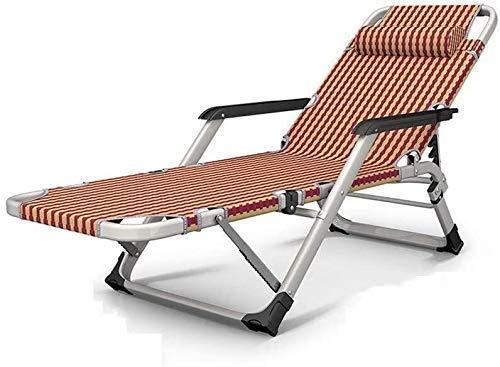 N/Z Home Equipment Lounge Liegestuhl Zero Gravity Klappbarer Lounge Chair Courtyard Beach Angelstuhl Indoor Lunch Break Lazy Sofa 15 Gangverstellung (Farbe: C)