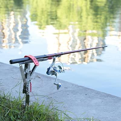 AKAMAS Guosu - Soporte automático para caña de pescar (2 unidades, acero...