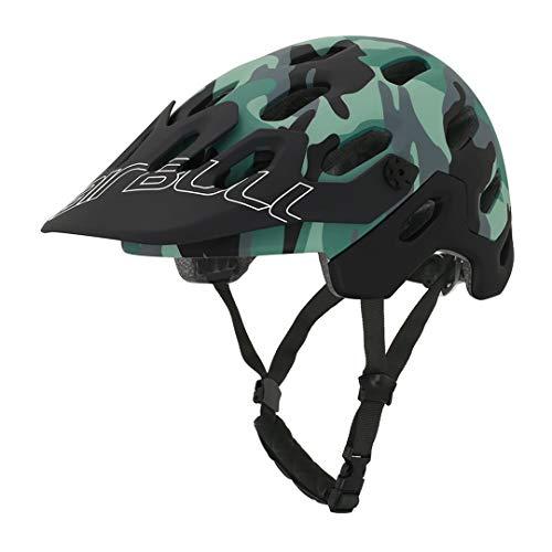 MTB-Bike-Helm Komfortable atmungsaktive Gebirgssicherheit Outdoor Sports Racing Radfahren Fahrradhelm Camouflage M(54-58cm)