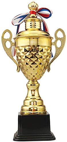 Fasmov Large Trophy Cup for Custom Trophy Keepsake, Gold Award for Sports, Tournaments, Competitions, 14.5 inches
