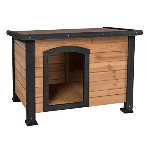 ELIGHTRY Caseta de Perros para Exterior Casa para Perros Madera Jaula para Perros Gatos Animales pequeños para Jardin Impermeable 85x60x60cm XGL0002hbsz