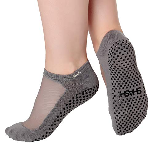 Shashi Classic Women's Mesh Grip Socks Pilates Barre Yoga Dance Non-Slip Socks