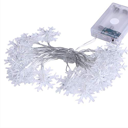 Huayuho Party 2M 20LED Snow Led String Lights Battery Operated Holiday Decoration Lamp
