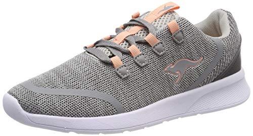 KangaROOS Unisex-Kinder KF Lock Sneaker, Grau (Vapor Grey/Dusty Rose 2075), 32 EU